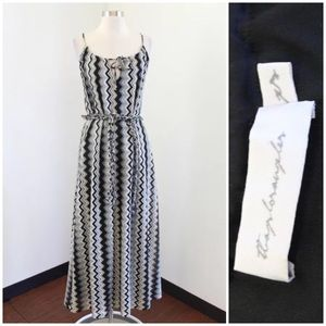 Tbags Los Angeles Zigzag Knit Maxi Dress